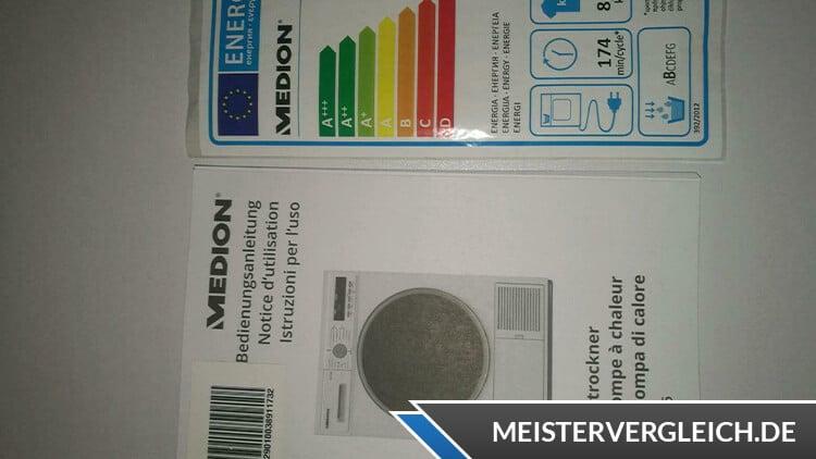 MEDION Wärmepumpentrockner MD 37456 Bedienungsanleitung