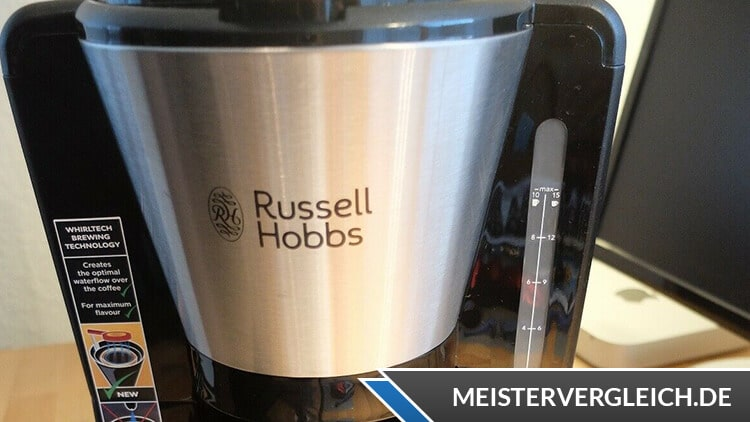 RUSSELL HOBBS Glas Kaffeemaschine Adventure Wasseranzeige