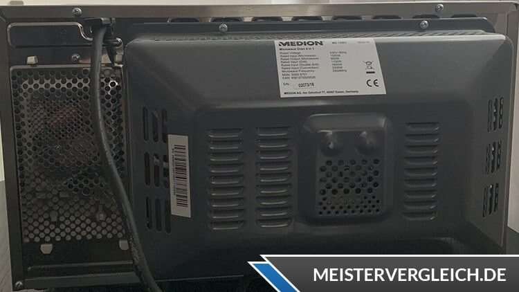 MEDION MD 15501 4-in-1 Mikrowelle mit Grill Rückseite
