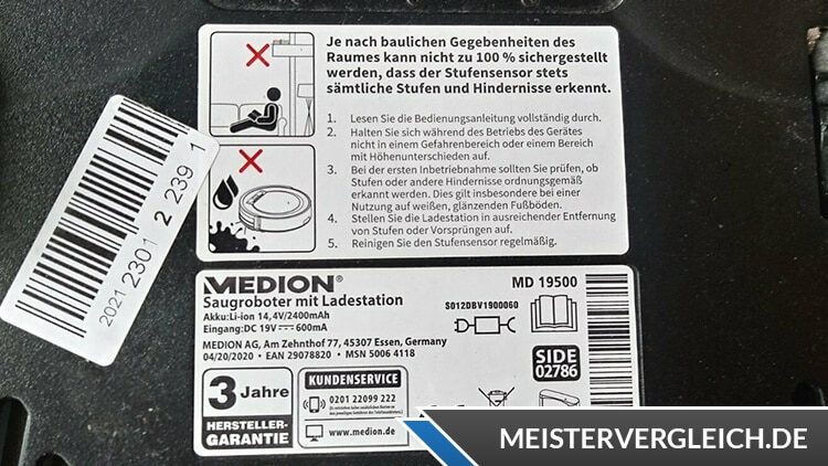 MEDION Saugroboter MD19500