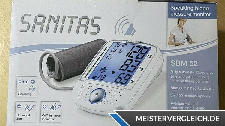 SANITAS Blutdruckmessgerät SBM 52 Verpackung