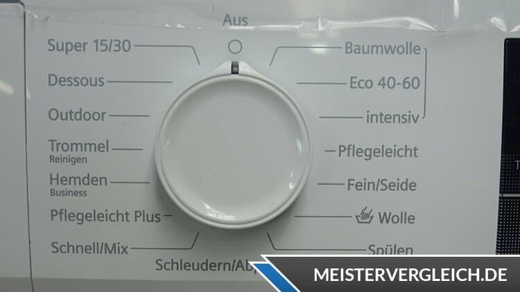 Siemens WM14N122 iQ300 Waschmaschine Bedienelemente