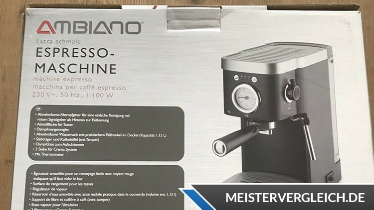 AMBIANO Espressomaschine Test