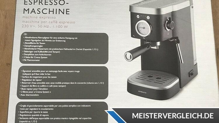 AMBIANO Espressomaschine Verpackung