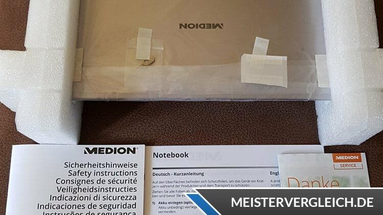 MEDION AKOYA Notebook E16402 MD63830 Lieferumfang