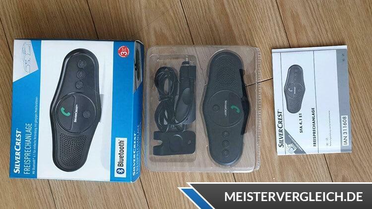 SILVERCREST Bluetooth Freisprechanlage Lieferumfang