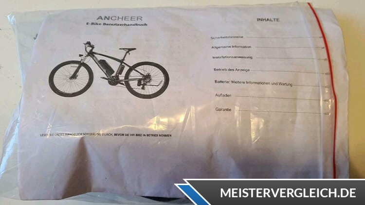 ANCHEER E-Mountainbike Bedienungsanleitung