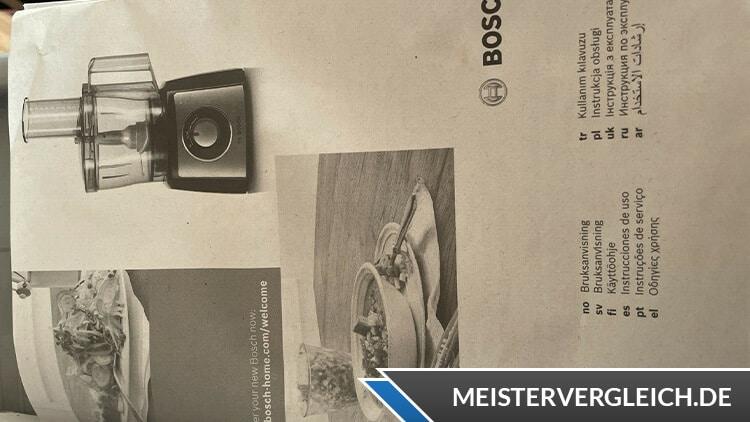 BOSCH MultiTalent 3 MCM3100W Kompakt-Küchenmaschine Bedienungsanleitung
