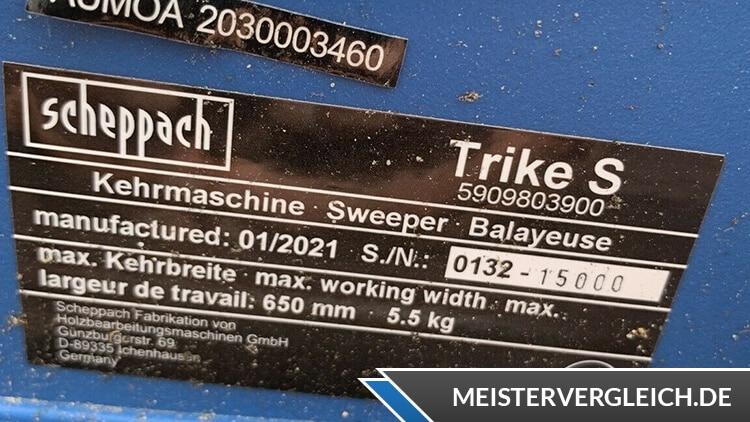 Scheppach Kehrmaschine Trike-S Datenblatt