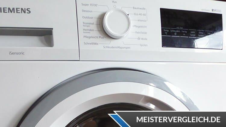 Siemens WM14NK20 iQ300 Waschmaschine Bedienelemente