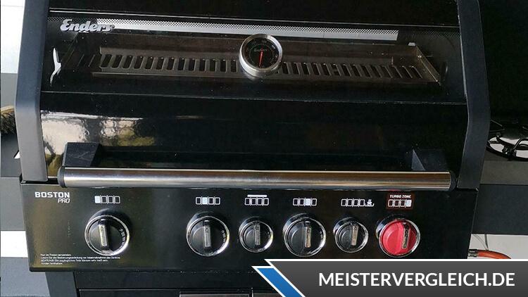 ENDERS Gasgrill Boston Black Pro 4 SIKR Turbo Regler
