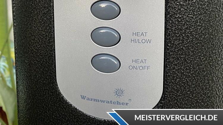 WARMWATCHER Infrarot-Heizstrahler Bedienelemente